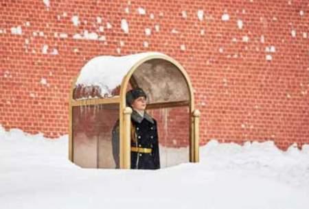 بارش برف سنگین در مسکو/تصاویر
