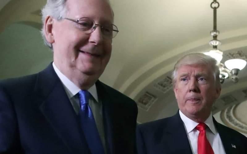ترامپ از جمهوریخواهان خواست تا رابطه خود را با مککانل به عنوان رهبر اقلیت سنا پایان دهند