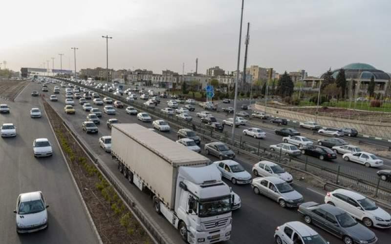 ترافیکسنگین ونیمهسنگیندرجادههای غربی تهران