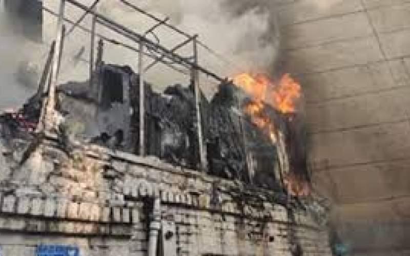 مرگ یک زن درآتشسوزی انبار پوشاک در شیراز