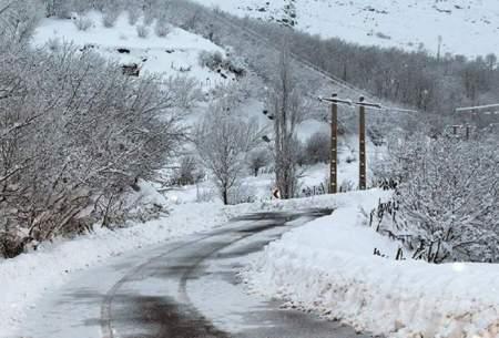 بارش ۱۹سانتیمتری برف در کوهرنگ