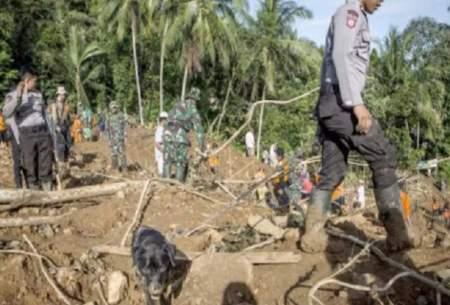 رانش زمین دراندونزی: ۵تن کشته و ۷۰تن ناپدید
