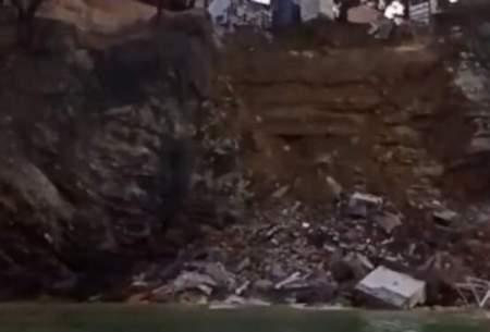 رانش زمین در ایتالیا صدها تابوت را به دریا ریخت