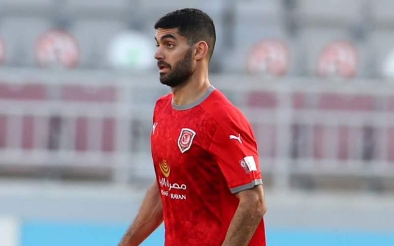 حضور علی کریمی در فینال جام حذفی قطر