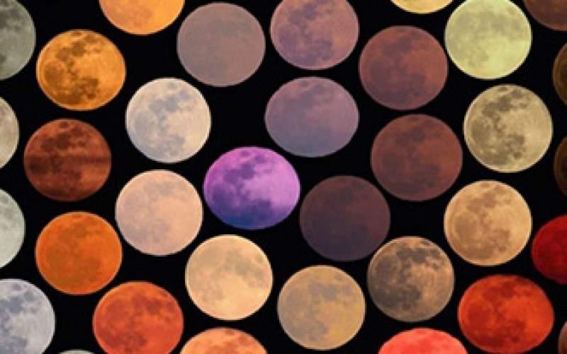 ۴۸ رنگ متفاوت از ماه طی ۱۰ سال/عکس