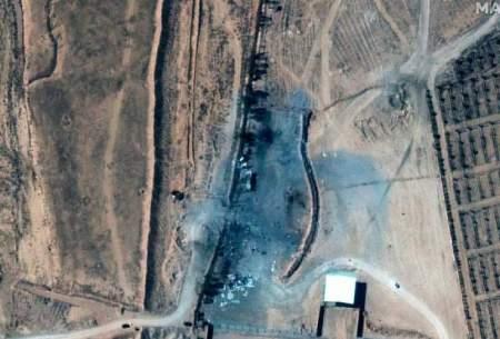 تصاویر ماهوارهای از مکانی که جنگندههای آمریکایی در خاک سوریه بمباران کردند