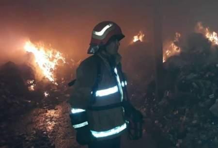 وقوع حریق در یک کارگاه مبل در محدوده یافت آباد