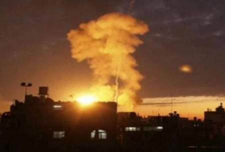 بمباران سنگین حومه دمشق توسط اسراییل