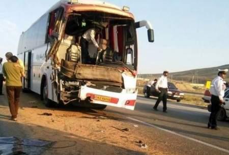 ۱۴ کشته و مصدوم براثر واژگونی اتوبوس