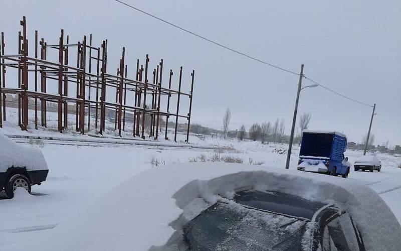 میزان بارش برف در آذربایجان شرقی/عکس