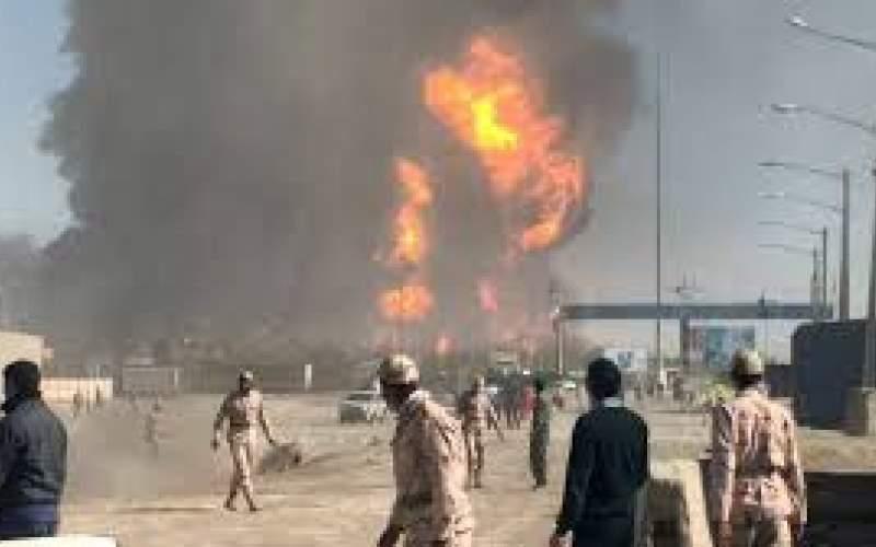 آتشسوزی مخازنسوخت در مرز ایران و افغانستان