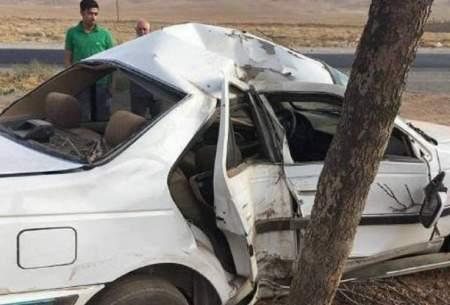 تصادف مرگبار سمند با درخت در گرگان