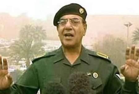تصویری از آخرین مصاحبه او با خبرنگاران در پشتبام هتل الرشید بغداد در روزی بود که نیروهای ارتشی آمریکا تا دروازههای بغداد رسیده بودند!