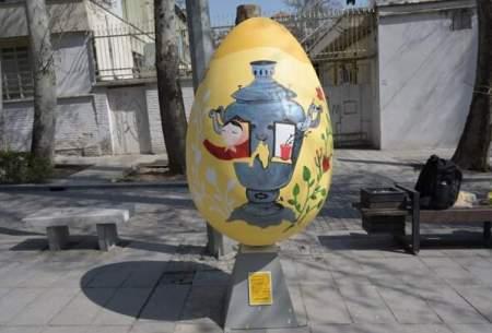 جشنواره تخم مرغ های رنگی در باغ فردوس