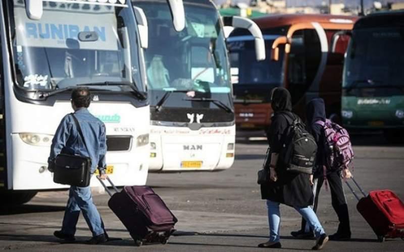 هزینه ۲ میلیونی سفر با اتوبوس/جدول
