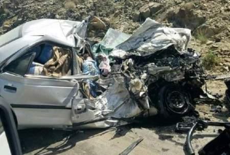 تصادف کامیون بایک خودرو 7کشته برجای گذاشت