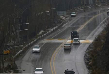 بارش باران در جادههای ۵ استان
