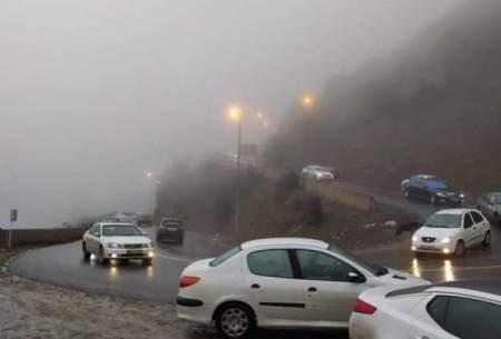 ترافیک سنگین چالوس تردد وان درهرازو فیروزکوه