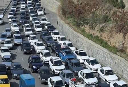 وضعیت ترافیکى در اولین روز بعد از تعطیلات
