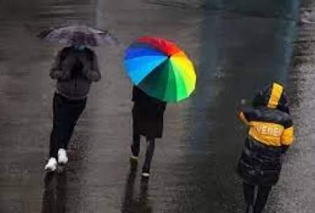 بارش باران در نقاط مختلف کشور طی امروز