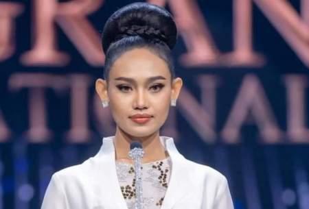 ملکه زیبایی میانمار مقابل ارتش كودتاگران
