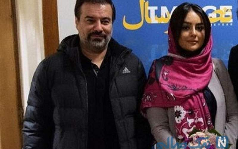 پیمان قاسمخانی در کنار همسرش/عکس