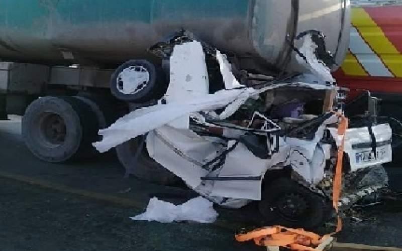 ۵ کشته در تصادف دو تریلی با پراید