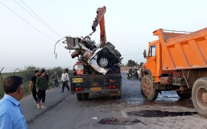 تصادف درمسیر دزفول سه کشته بر جا گذاشت