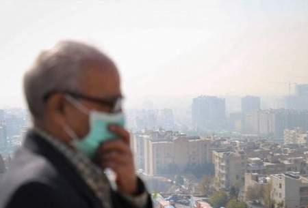 برقراری هوای ناسالم  در بیشتر مناطق پایتخت