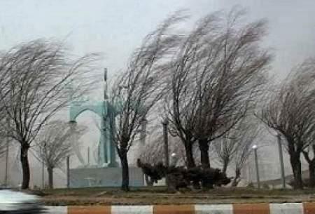 باد شدید و گرد و خاک در برخی مناطق کشور