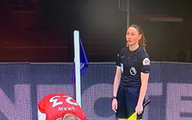 شبکه ورزش، کمک داور زن را سانسور کرد/عکس