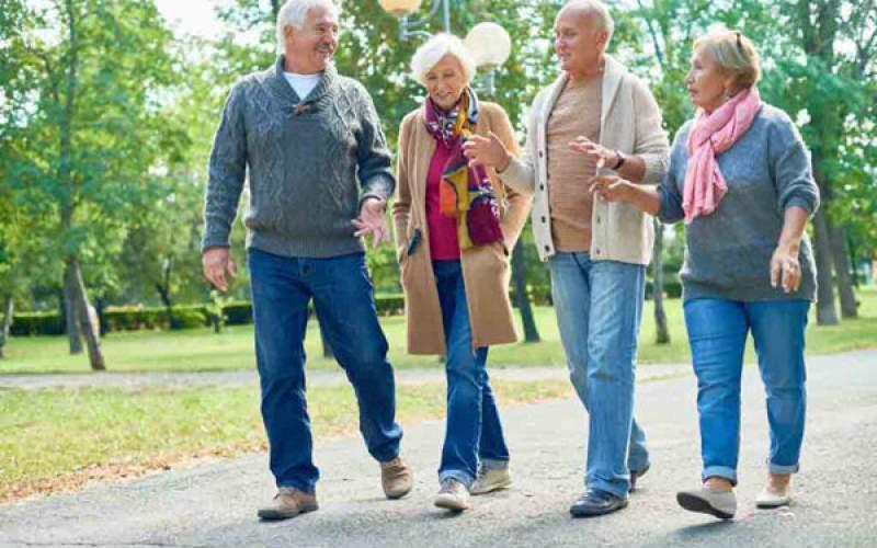 رابطه  بهبودی حافظه با پیادهروی سالمندان