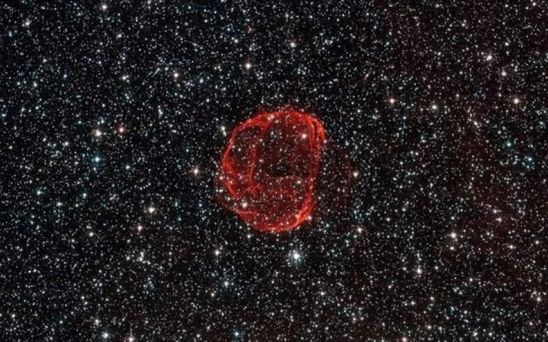بقایای یک انفجار ۶۰۰ ساله در آسمان!