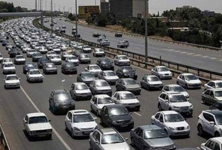 ترافیک سنگین در آزادراه قزوین_تهران_کرج