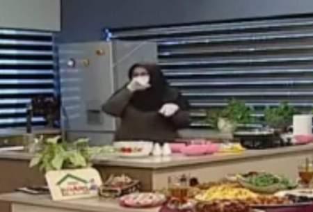 قطع برنامه بهدلیل سرفههای آشپز روی آنتن زنده
