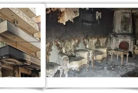 فداکاری  آتشنشانان در آپارتمان شعلهور
