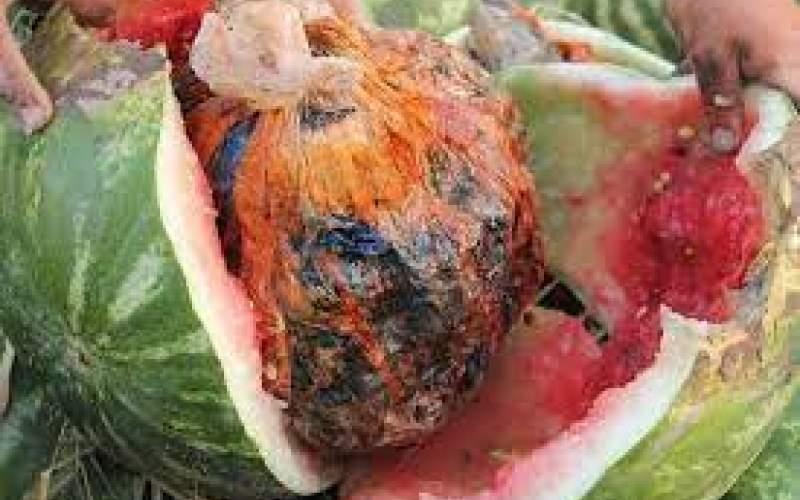 جاسازی ۱۲۳کیلو تریاک در بار هندوانه