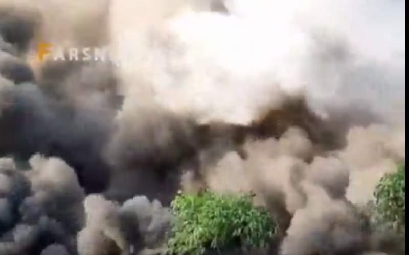 آتشسوزی در شهرک صنعتی شکوهیه قم