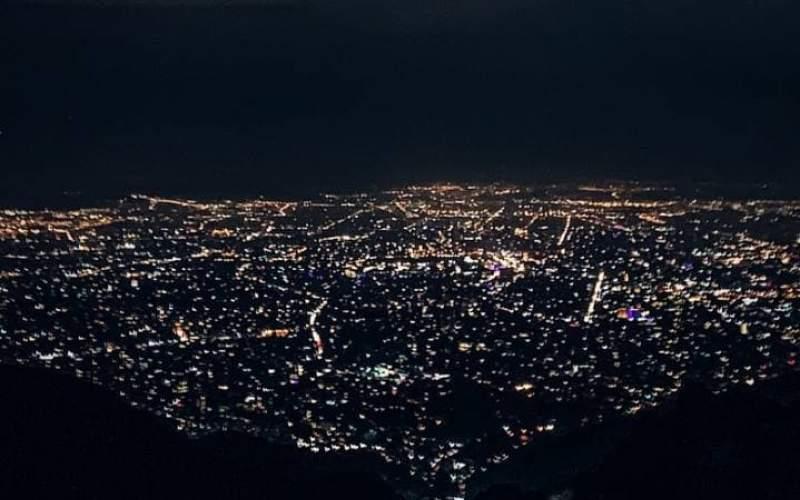 تصویری رویایی از تهران در شب