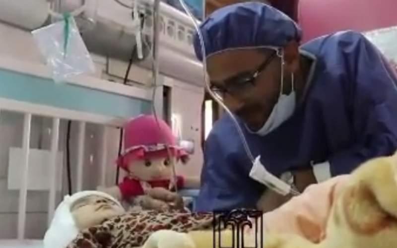 ویدئویی متفاوت از لالاییِ پدر کودک بهشهری
