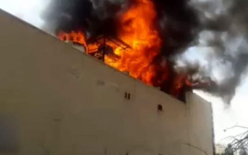 آتشسوزی یک انبار کالا در جنوب تهران