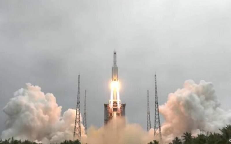 بقایای موشک چینی به احتمال زیاد در آب میافتد