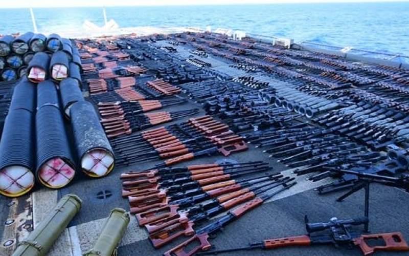 کشتی توقیفشده حامل اسلحه از ایران بود