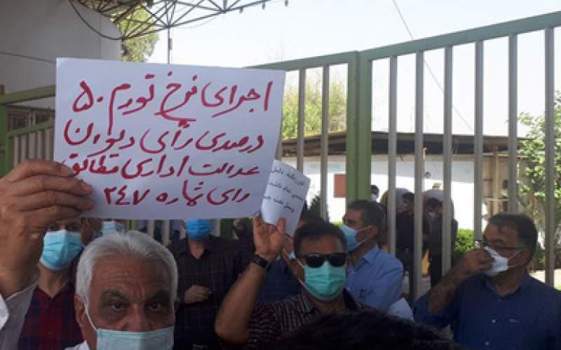 تجمع کارکنان رسمی نفت در اهواز/عکس