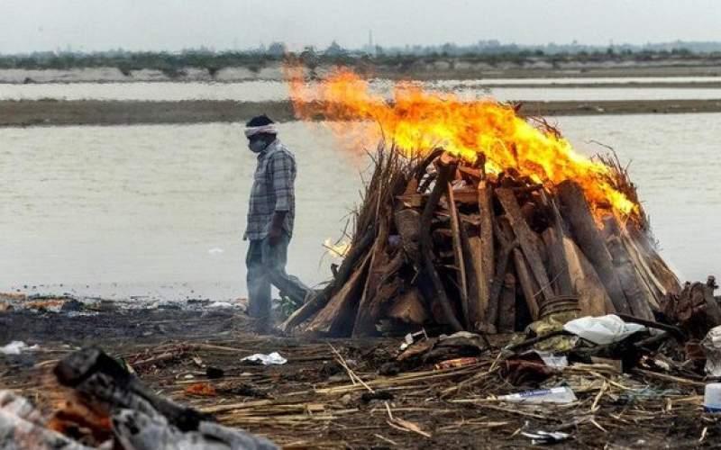 رهاکردناجساد قربانیان کرونا دررودخانه گنگِ هند