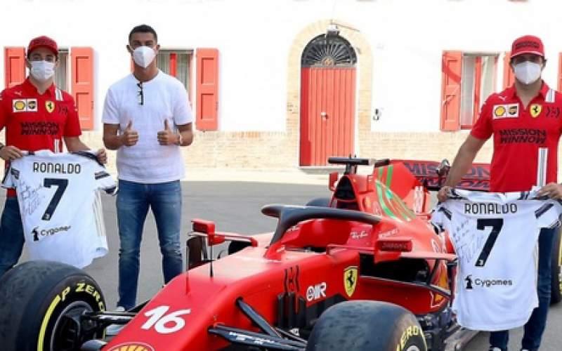 رونالدو از کارخانه فراری بازدید کرد /عکس