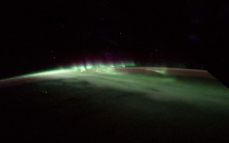 شفق قطبی از منظر فضا /عکس