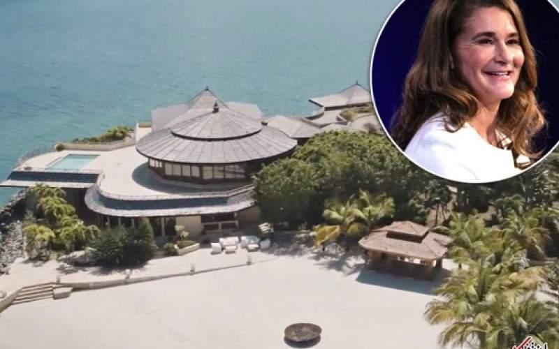 ملیندا گیتس به جزیره خصوصی لاکچری فرار کرد