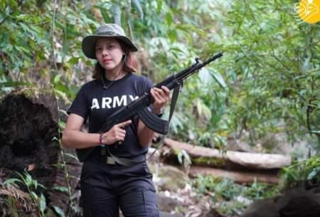 ملکه زیبایی میانمار در جنگ با كودتاگران