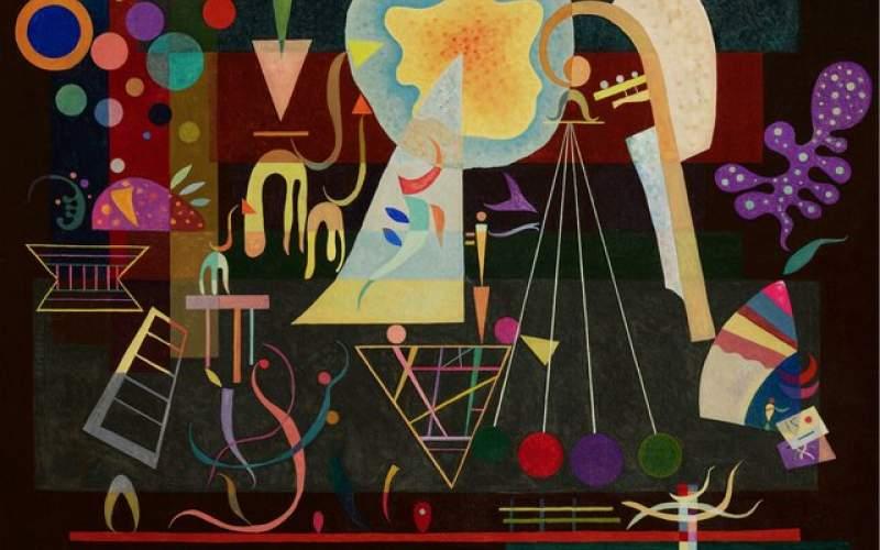 نقاشی پنهان کاندینسکی روی دیوار رفت